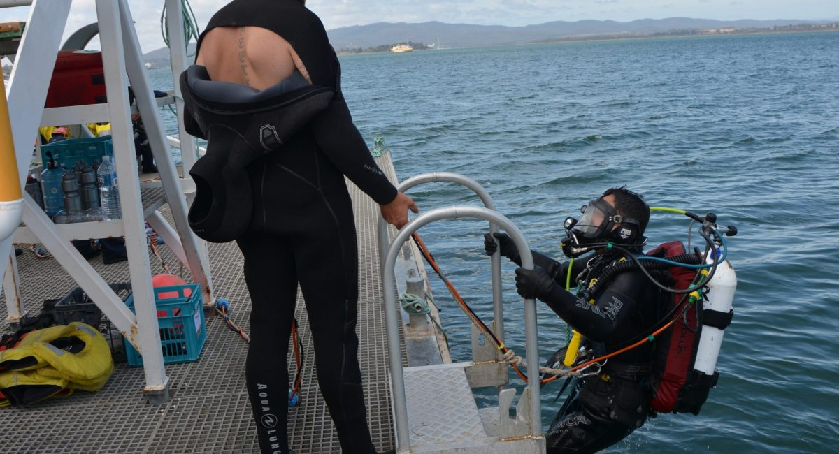 ADAS Scuba Diver (ADAS part one) entering the water